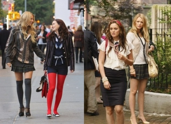 """Hi, Society""-- Pictured (l-r) Blake Lively as Serena and Leighton Meester as Blair in Gossip Girl on The CW. Photo Eric Leibowitz/The CW © 2007 The CW Network, LLC. All Rights Reserved"